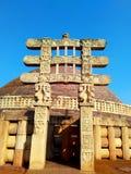 Grande stupa da Índia do sanchi, patrimônio mundial budista dos monumentos foto de stock royalty free