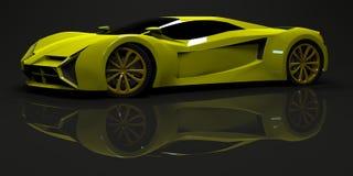 Grande super brillante dell'automobile sportiva Progettazione concettuale a Fotografia Stock Libera da Diritti