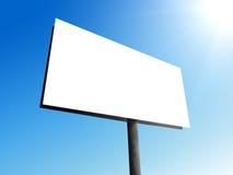 Grande tabellone per le affissioni in bianco Fotografie Stock