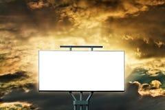 Grande tabellone per le affissioni in bianco Fotografia Stock Libera da Diritti
