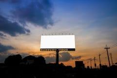 Grande tabellone per le affissioni nel tramonto Fotografie Stock