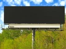 Grande tabellone per le affissioni nero in bianco. fotografie stock libere da diritti