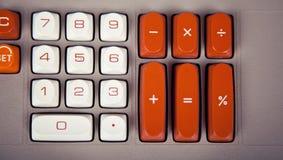 Grande tastiera d'annata del calcolatore Fotografia Stock