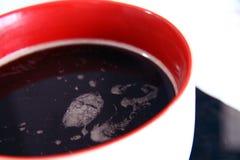 Grande tazza con caffè nero Fotografia Stock Libera da Diritti