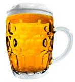 Grande tazza di birra isolata Fotografie Stock Libere da Diritti