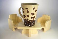 Grande tazza di caffè fotografia stock