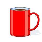 Grande tazza rossa Fotografie Stock Libere da Diritti