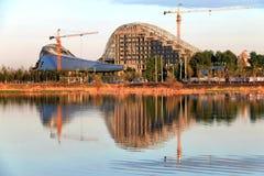 Grande teatro di Harbin in costruzione Fotografie Stock