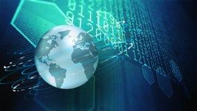 Grande technologie de données et d'information illustration libre de droits