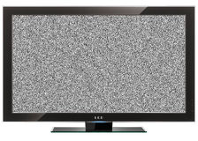 Grande tela do LCD Imagens de Stock