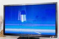 Grande tela moderna do plasma da tevê 4k Fotos de Stock