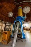 Grande telescópio ótico do troféu velho fotos de stock royalty free