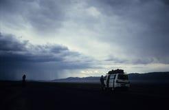 Grande tempête sur Kazakstan image libre de droits