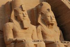 Grande templo de Abu Simbel fotos de stock royalty free
