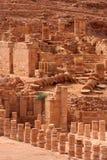 Grande templo em PETRA, Foto de Stock Royalty Free