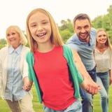 Grande tempo di spesa con la famiglia Fotografia Stock