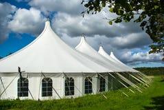 Grande tenda bianca del partito Fotografie Stock