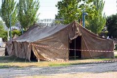 Grande tenda militare Immagini Stock Libere da Diritti