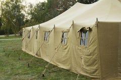 Grande tenda militare Fotografia Stock
