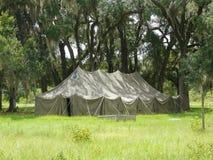 Grande tente dans les chênes Photos stock