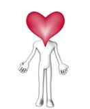 Grande testa del cuore Immagine Stock