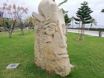Grande testa della statua Fotografia Stock