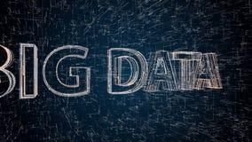 Grande testo di dati sulla griglia sul blu illustrazione di stock