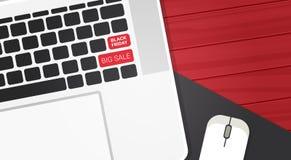 Grande testo di vendita di Black Friday su progettazione di compera del manifesto di sconti dei bottoni della tastiera del comput Fotografie Stock