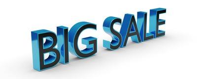 grande testo di vendita 3d con ombra illustrazione di stock