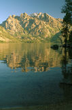 Grande Teton e lago jenny Fotografie Stock
