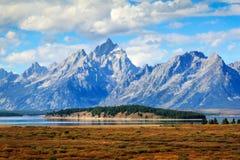 Grande Tetons e Jackson Lake Fotografia Stock