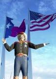 Grande Tex e bandiere, stato del Texas giusto Fotografie Stock Libere da Diritti