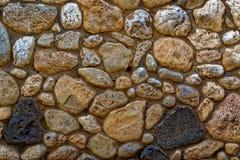 Grande texture colorée multi de photo de mur de roche Image libre de droits