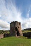 A grande torre arruinada do castelo de Skenfrith. Foto de Stock Royalty Free