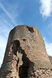 A grande torre arruinada do castelo de Skenfrith. Imagem de Stock Royalty Free