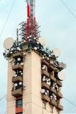 Grande torre della trasmissione fotografia stock libera da diritti