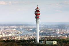 Grande torre della trasmissione Fotografia Stock