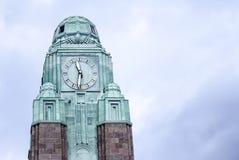 Grande torre di orologio a Helsinki Fotografia Stock Libera da Diritti