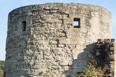 Grande torre di pietra di una fortezza Fotografia Stock