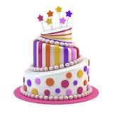 Grande torta di festa Fotografia Stock Libera da Diritti