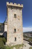 Grande Tour of the Chateau de Foix stock photos