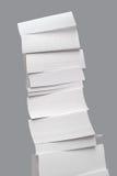 Grande tour de collant de papier blanc Images stock
