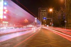 Grande traffico di città fotografie stock libere da diritti