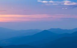 Grande tramonto della montagna Fotografie Stock Libere da Diritti