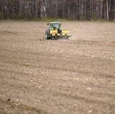 Grande trattore del coltivatore Fotografia Stock Libera da Diritti