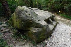 Grande trono de pedra real imagens de stock royalty free