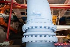 Grande tubulação líquida feita sob medida industrial fotografia de stock