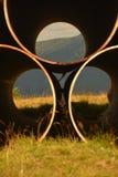 grande tubulação na parte superior Fotografia de Stock Royalty Free