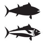Grande Tuna Fish Outline Icon o Logotype Fotografie Stock