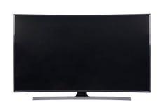 Grande TV principale isolata su fondo bianco Immagini Stock
